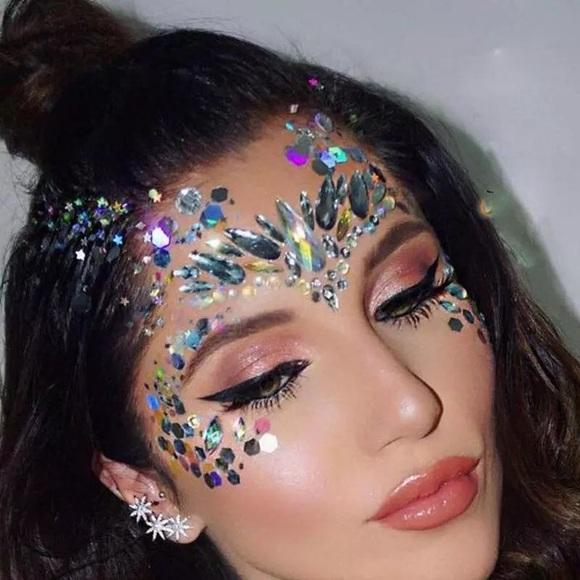 Accessories Face Gems Glitter Rhinestones Shine Jewels